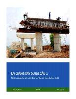 Bài giảng xây dựng cầu 1  Xây dựng móng và thân mố trụ cầu