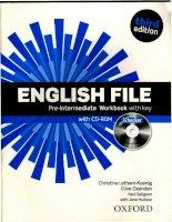 English File PreIntermediate Workbook