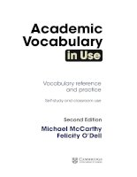 Academic vocabulary in use 2nd ed 2016