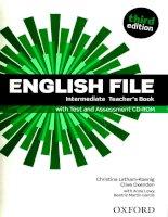 English File 3e  Intermediate Teachers Book