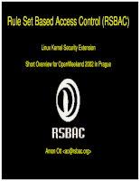 EN rule set based access control (RSBAC)