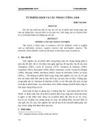 Từ phiếm định và câu trong tiếng Anh