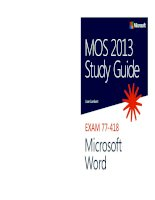 Hướng dẫn sử dụng MOS 2013 Microsoft Word
