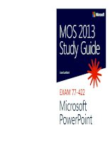 Hướng dẫn sử dụng MOS 2013 Microsoft PowerPoint