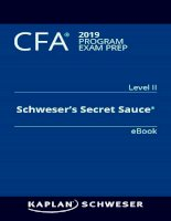 CFA 2019 secret sauce level 2