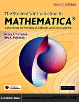 IT training the students introduction to mathematica  a handbook for precalculus, calculus, and linear algebra (2nd ed ) torrence  torrence 2009 02 02 1
