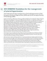 ESC HTN hypertension 2013 khotailieu y hoc