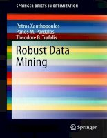 IT training robust data mining xanthopoulos, pardalos  trafalis 2012 11 21
