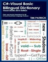 IT training c visual basic bilingual dictionary  visual studio 2015 edition patrick 2015 05 27