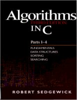 IT training algorithms in c (3rd ed ) parts 1 4  fundamentals, data structures, sorting, searching sedgewick 1997 09 27