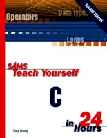 IT training teach yourself c in 24 hours (2nd ed ) zhang 2000 02 28