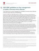 ESC stable cardiovascular disease 2013 khotailieu y hoc