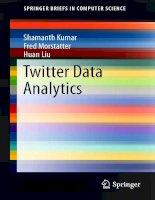 IT training twitter data analytics kumar, morstatter  liu 2013 11 25