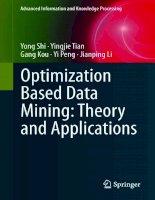 IT training optimization based data mining  theory and applications shi, tian, kou, peng  li 2011 05 18
