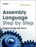 IT training assembly language step by step  programming with linux (3rd ed ) duntemann 2009 10 05