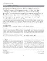 ESC consensus antithrombotics AF 2009 khotailieu y hoc