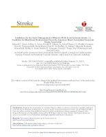 AHA ASA acute stroke 2013 khotailieu y hoc