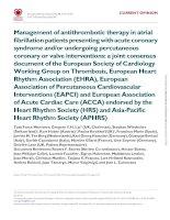 ESC consensus antithrombotics AF statement 2014 khotailieu y hoc