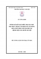 ĐÁNH GIÁ kết QUẢ điều TRỊ UNG THƯ đại TRỰC TRÀNG tái PHÁT DI căn BẰNG hóa CHẤT PHÁC đồ FOLFIRI tại BỆNH VIỆN UNG bướu hà nội