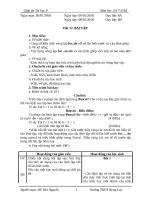 GIÁO ÁN TIN8 HK2 MỚI SOẠN THEO CHUẨN KIẾN THỨC KỸ NĂNG(1)