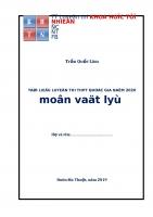 Tài liệu vật lý luyện thi THPT quốc gia năm 2020 lớp 11 đầy đủ   th s trần quốc lâm   file word