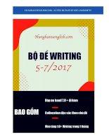 WRITING FORECAST 5 8  2017  kho tài liệu học tiếng anh