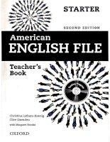American english file starter teachers book 2nd edition full kho tài liệu học tiếng anh