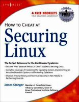 How to cheat at securing linux   the perfect reference for the multitasked sysadmin kho tài liệu training