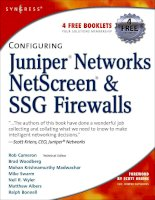 Configuring juniper networks netscreen  SSG firewalls kho tài liệu training