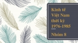 Kinh tế Việt Nam thời kỳ 19761985