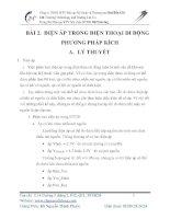 BÀI 2. ĐIỆN ÁP TRONG ĐIỆN THOẠI DI ĐỘNG  PHƯƠNG PHÁP KÍCH