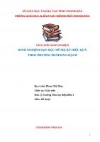 SKKN kinh nghiệm dạy học mỹ thuật hiệu quả theo phương pháp đan mạch