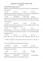 Bộ đề thi học kì 1 môn Vật lý lớp 12