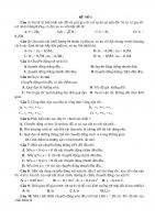 Bộ đề thi học kì 1 môn Vật lý lớp 10