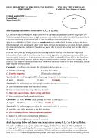 ĐỀ THI  + đáp án ôn tập TIẾNG ANH 10 (u1 3) 2