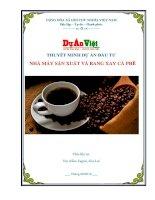 Dự án nhà máy sản xuất và rang xay cà phê tỉnh gia lai
