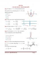 đề thi thử thpt quốc gia môn toán kèm ma trận đề số 2