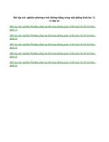 Bài tập trắc nghiệm phương trình đường thẳng trong mặt phẳng hình học 12 có đáp án