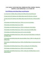CÁC DẠNG TOÁN PHƯƠNG TRÌNH ĐƯỜNG THẲNG TRONG KHÔNG GIAN HÌNH HỌC 12 CÓ ĐÁP ÁN
