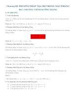 Hình học lớp 10 chương 3  Phương trình đường thẳng