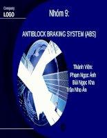 Bài thuyết trình: Antiblock braking system (ABS)