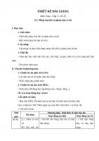 Thiết kế bài giảng toán lớp 3