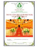 Thuyết minh báo cáo đầu tư xây dựng: Dự án trung tâm tiệc cưới hội nghị và sự kiện Sơn La