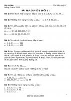 Bài tập dãy số cho học sinh lớp 3 phần 1