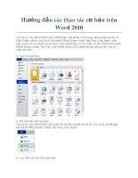 Hướng dẫn các thao tác cơ bản trên Word 2010