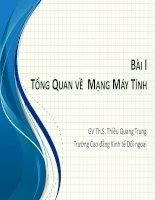 Bài giảng Tin văn phòng 2: Bài 1 - ThS. Thiều Quang Trung