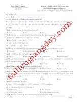Đề thi thử THPT QG 2020   hóa học   gv lê phạm thành   đề 07   có lời giải