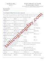 Đề thi thử THPT QG 2020   hóa học   gv lê phạm thành   đề 13   có lời giải