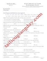 Đề thi thử THPT QG 2020   hóa học   gv lê phạm thành   đề 11   có lời giải
