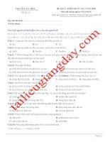 Đề thi thử THPT QG 2020   hóa học   gv lê phạm thành   đề 12   có lời giải